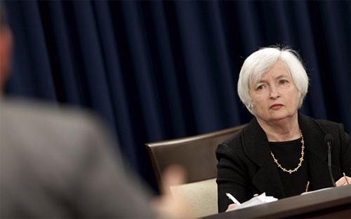 Chủ tịch FED Janet Yellen trong cuộc họp báo ngày 17/9 - Ảnh: Reuters/Guardian. <br>