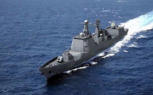 Một tàu khu trục 052D được trang bị tên lửa hành trình của Trung Quốc.<br>