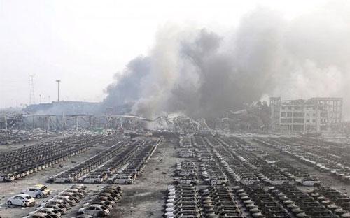 Vụ nổ lớn ở Thiên Tân hôm 12/8 đã gây ra thiệt hại lớn về người và tài sản - Ảnh: Reuters.