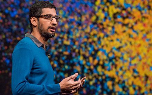 Sundar Pichai, người vừa được bổ nhiệm vào ghế CEO của Google - Ảnh: Bloomberg.<br>
