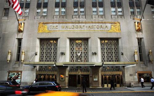 Khách sạn Waldorf Astoria ở New York - Ảnh: Getty/Bloomberg.<br>