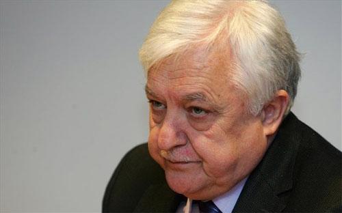 Cựu Bộ trưởng Bộ Tài chính Hy Lạp Alekos Papadopoulos.<br>