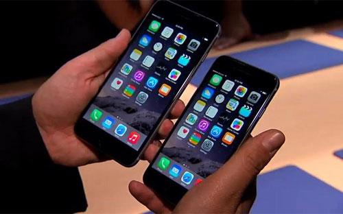 Một chiếc iPhone 6 và iPhone 6s.<br>
