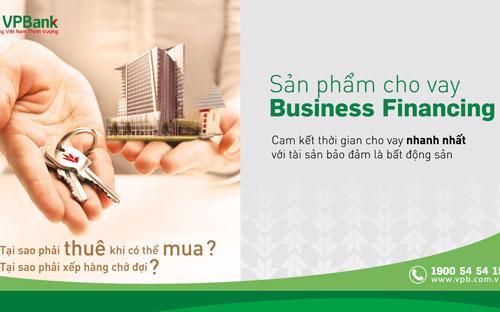 """Sản phẩm """"Cho vay kinh doanh bảo đảm bằng bất động sản – SME Business Financing"""" có những ưu đãi đặc biệt hấp dẫn."""