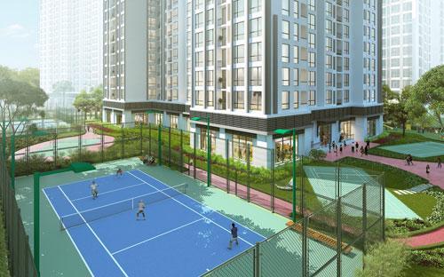 Sân thể thao trong khu dự án Park 5.<br>