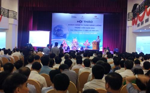 """Hội thảo """"Khách hàng sử dụng năng lượng trọng điểm 2014"""" nhằm giới thiệu lợi ích và hướng dẫn thực hiện giải pháp kiểm toán năng lượng và các mô hình quản lý năng lượng hiệu quả. <br>"""