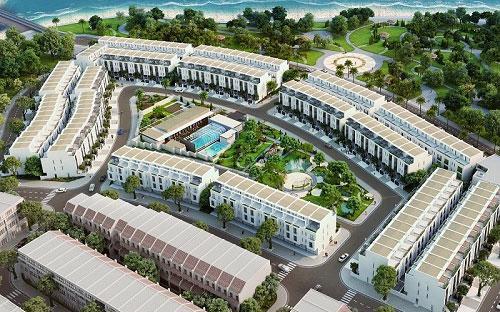 Mô hình tổng thể dự án Lotus Residences - nhà liền kề nghỉ dưỡng Vạn Liên.