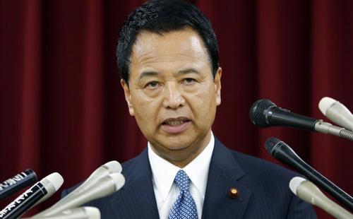 Ông Akira Amari, Bộ trưởng Kinh tế và Chính sách tài khóa Nhật bản - Ảnh: Bloomberg.