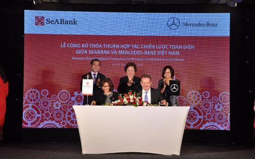 Việc hợp tác này sẽ cho ra đời sản phẩm độc đáo với tính năng ưu việt dành riêng cho khách hàng của Mercedes - Benz và SeABank.