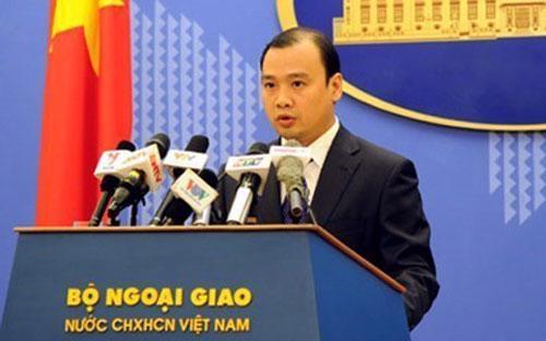 Người phát ngôn Bộ Ngoại giao Việt Nam Lê Hải Bình.<br>