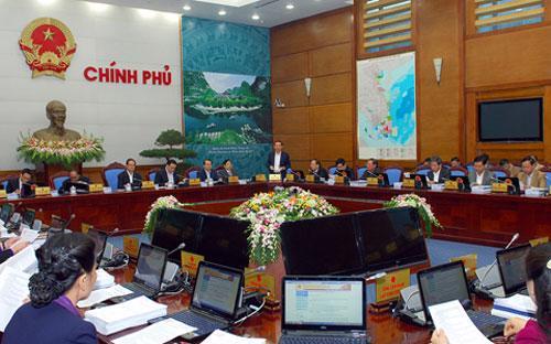 Thủ tướng Nguyễn Tấn Dũng chủ trì phiên họp thường kỳ tháng 12 của Chính phủ ngày 30/12.<br>