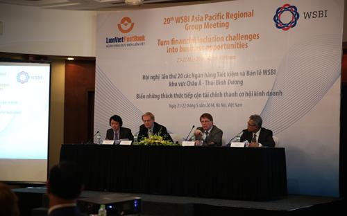 Hội nghị thường niên các Ngân hàng Tiết kiệm khu vực châu Á - Thái  Bình Dương lần thứ 20, do Ngân hàng Bưu điện Liên Việt  (LienVietPostBank) và Hiệp hội Ngân hàng tiết kiệm và bán lẻ thế giới  (WSBI) phối hợp tổ chức trong hai ngày 21 và 22/5 vừa qua.<br>