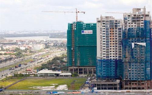 Một dự án bất động sản ở Tp.HCM.<br>