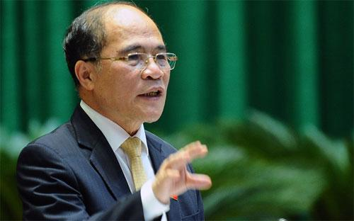 Chủ tịch Quốc hội Nguyễn Sinh Hùng - Ảnh: Tuổi Trẻ.<b><br></b>