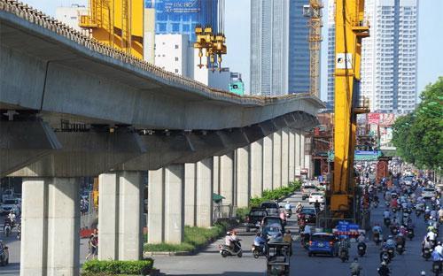 Đường sắt Cát Linh - Hà Đông, một dự án được đầu tư có nguồn vốn ODA - Ảnh: Tuổi Trẻ.