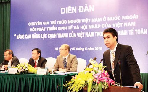 Diễn đàn chuyên gia trí thức người Việt Nam ở nước ngoài ngày 7/6/2015.