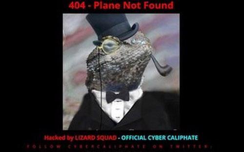 """Trên trang chủ của Malaysia Airlines đã xuất hiện dòng chữ """"404 - Plane not found""""."""