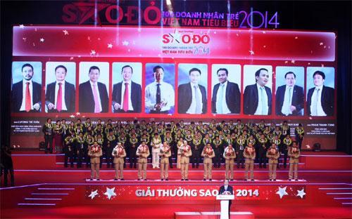 <strong> </strong>Lễ trao giải thưởng Sao Đỏ của Hội Doanh nhân trẻ Việt Nam tối 30/8 - Ảnh: CTV.<strong><br></strong>