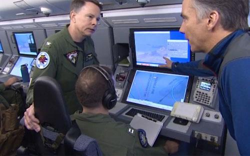Chiếc máy bay mang tên P8-A Poseidon được sử dụng cho chuyến bay hôm 20/5 là máy bay do thám hiện đại nhất của Mỹ - Nguồn: CNN.<br>