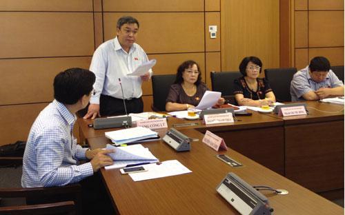 Đại biểu Đặng Công Lý phát biểu tại tổ về dự án Bộ luật Tố tụng dân sự sửa đổi - Ảnh: Minh Thuý.