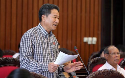 Đại biểu Nguyễn Bá Thuyền đề nghị quyền hạn của Kiểm toán Nhà nước phải gắn với trách nhiệm.