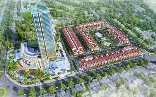Dự án bao gồm khu khách sạn và trung tâm thương mại và khu biệt thự, nhà liền kề mang thương hiệu Vinhomes Hà Tĩnh.