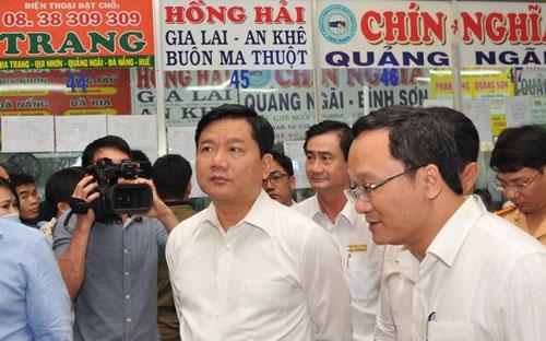 """Bộ trưởng Đinh La Thăng: """"Phải nói rõ cho người dân biết, các hãng xe không giảm giá vé là đang móc túi của người dân bao nhiêu tiền"""".<br>"""