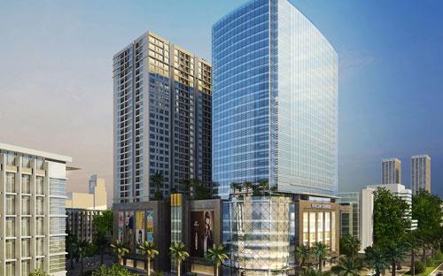 """<span style=""""font-family: 'Times New Roman'; font-size: 14.6666669845581px;"""">Với chiều cao 30 tầng, TNR Tower gồm 6 tầng đế là trung tâm thương mại Vincom Centre, nằm phía bên ngoài tòa nhà Vinhomes Nguyễn Chí Thanh.&nbsp;</span>"""