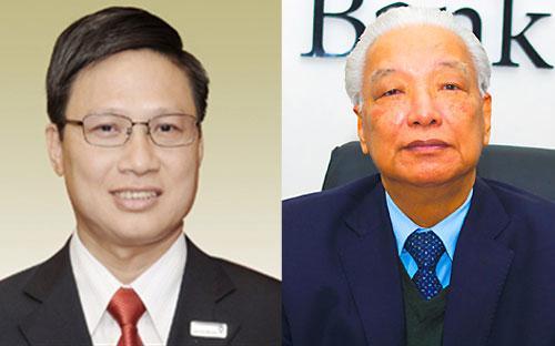 Ông Võ Minh Tuấn (trái) đảm nhiệm vị trí Chủ tịch Hội đồng Quản trị DongA Bank sau khi ông Cao Sĩ Kiêm (phải) có đơn xin từ nhiệm.<br>