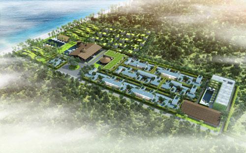 Giới đầu tư bất động sản vẫn đang dành nhiều ưu tiên cho phân khúc biệt thự nghỉ dưỡng tại Đà Nẵng. Trong ảnh là phối cảnh dự án Naman Residences tại Đà Nẵng.<br>