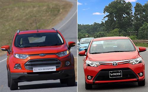 """<span style=""""font-family: 'Times New Roman'; font-size: 15px;"""">EcoSport và Vios mới là hai cái tên đình đám giúp Ford và Toyota có cú bứt tốc bất ngờ vào tháng 7/2014 về sản lượng bán hàng.</span>"""