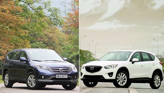 Không phải ngẫu nhiên mà Honda CR-V và Mazda CX-5 đang là cặp song mã dẫn  đầu, đặc biệt là khi mới đây, CX-5 đã có một cú bứt tốc mạnh mẽ về sản  lượng bán hàng.<br>