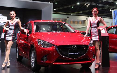 Mazda2 có mặt tại triển làm Bangkok Motor Show hồi đầu năm nay trước khi chính thức được đưa về Việt Nam - Ảnh: Đức Thọ.<br>