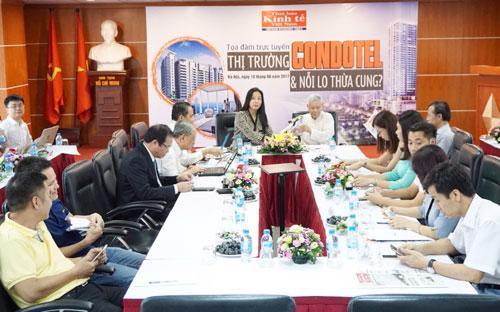 """Buổi tọa đàm """"Thị trường Condotel và nỗi lo thừa cung?"""" tại trụ sở Thời báo Kinh tế Việt Nam - Ảnh: Quang Phúc.<br>"""