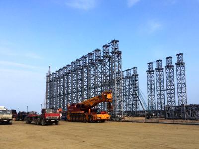 Một hạng mục đang được xây dựng ở Formosa.<br>