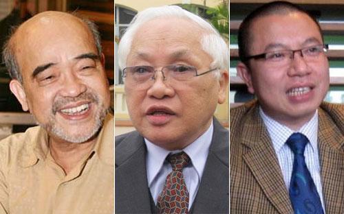 Ông Đặng Hùng Võ, ông Phạm Sỹ Liêm và ông Trần Như Trung.