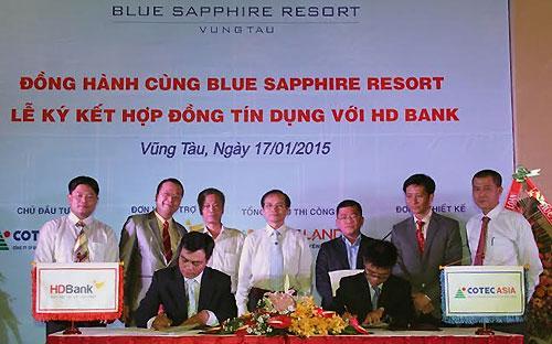 Lễ ký hợp đồng tài trợ vốn giữa HDBank với Cotec Asia.<br>