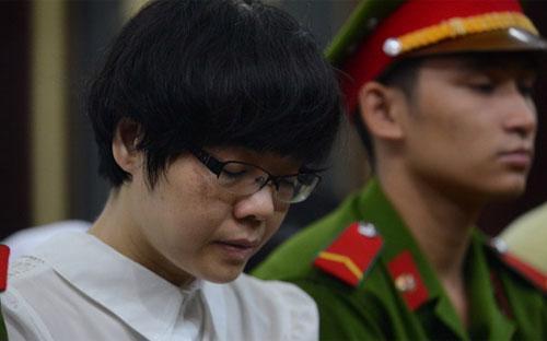 Bị cáo Huỳnh Thị Huyền Như tại tòa sáng 9/1 - Ảnh: Tuổi Trẻ.