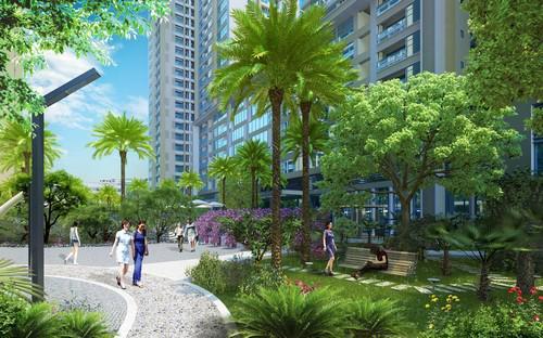 Tháp C và D dự án Imperia Garden gồm 2 tòa nhà cao 27 tầng, nằm trên trục đường Nguyễn Huy Tưởng - Nguyễn Tuân, quận Thanh Xuân.