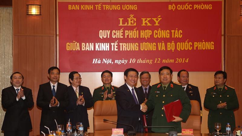 Bộ Quốc phòng đã đề nghị Ban Kinh tế Trung ương sớm có các chuyến công tác, khảo sát các đơn vị kinh tế, binh đoàn về kinh tế của quốc phòng.