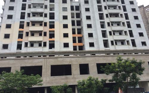 Chung cư OTC1 Resco Cổ Nhuế đang trong quá trình hoàn thiện nội, ngoại thất.<br>