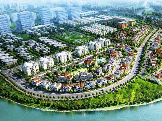 Một góc khu đô thị Phú Mỹ Hưng.<br>