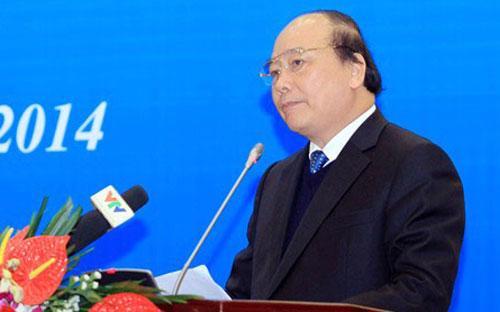 Phó thủ tướng Nguyễn Xuân Phúc phát biểu chỉ đạo tại hội nghị thi hành án dân sự, chiều 4/12.<br>
