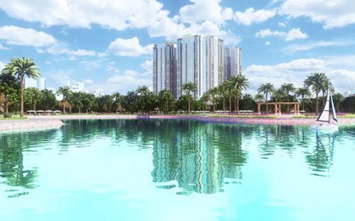 Hình ảnh phối cảnh của dự án Eco-Green City.