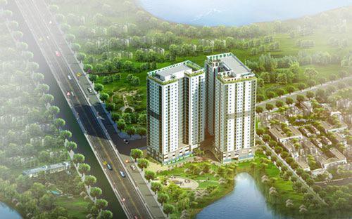 Tổng thể dự án Hateco Hoàng Mai, Hà Nội.