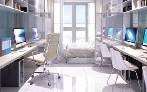 Căn hộ Office-tel tích hợp các tính năng tiện lợi.