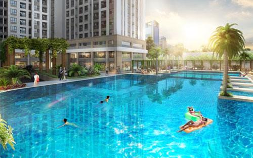 Phối cảnh hồ bơi dự án RichStar. <br>