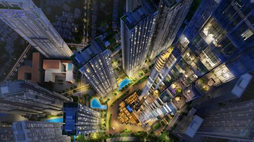 Với chiều cao từ 45 - 50 tầng, các toà Landmark 4, Landmark 5, Landmark 6  nằm giữa khuôn viên cây xanh tươi mát bao quanh khu dịch vụ tiện ích  cao cấp.