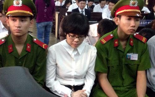 Bị cáo Huyền Như tại tòa - Ảnh: Tuổi trẻ.<br>