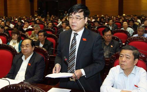 Phó chủ nhiệm Ủy ban Kinh tế Nguyễn Văn Phúc tại một phiên thảo luận của Quốc hội - Ảnh: TTXVN.<br>